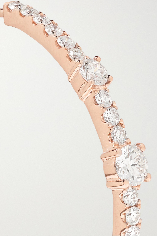 Anita Ko Creolen aus 18 Karat Roségold mit Diamanten