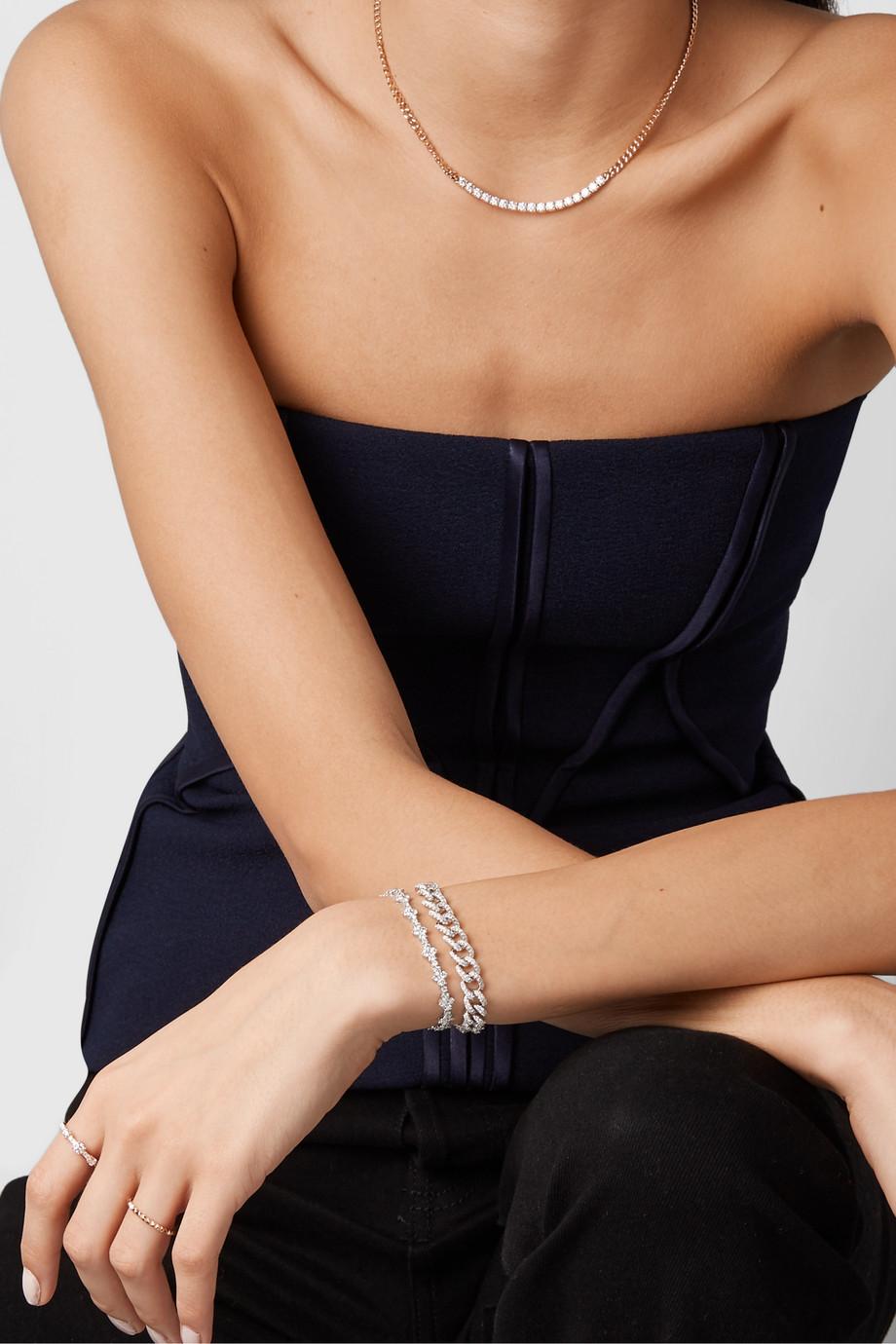 Anita Ko Bracelet en or blanc 18 carats et diamants Vivi