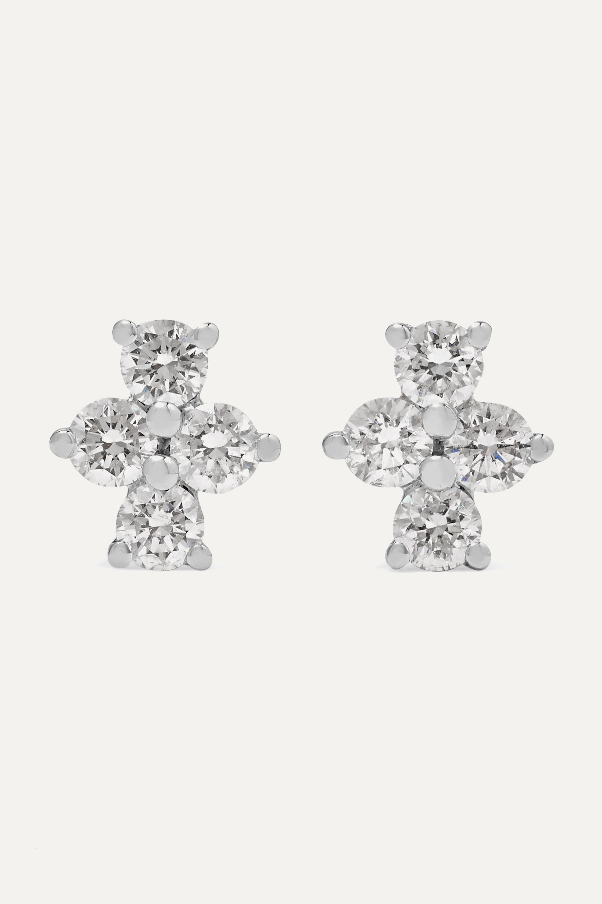 Anita Ko Vivi 18-karat white gold diamond earrings