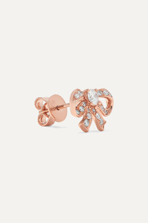 Anita Ko Bow 18-karat rose gold diamond earrings