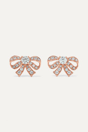 Anita Ko Bow 18-karat rose gold diamond earrings