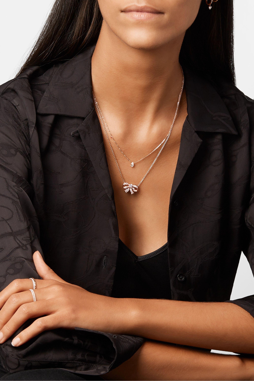 Anita Ko Bow 18-karat rose gold diamond necklace