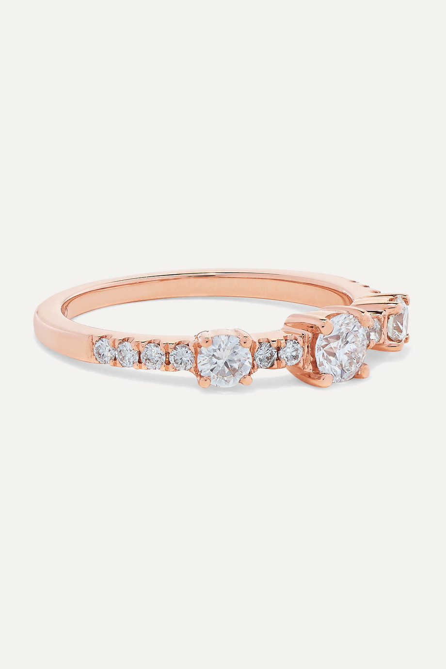 Anita Ko Collins 18K 玫瑰金钻石戒指