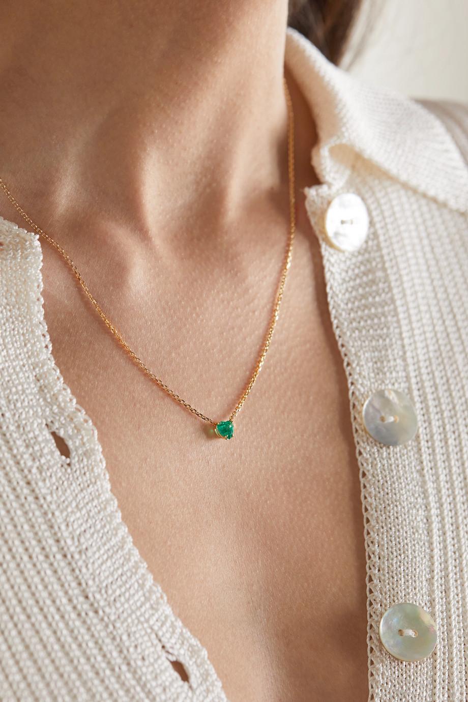 Anita Ko Collier en or 18 carats et émeraude
