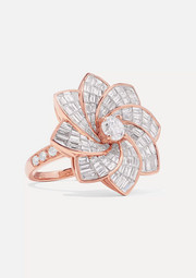 Anita Ko Starburst Flower 18-karat rose gold diamond ring