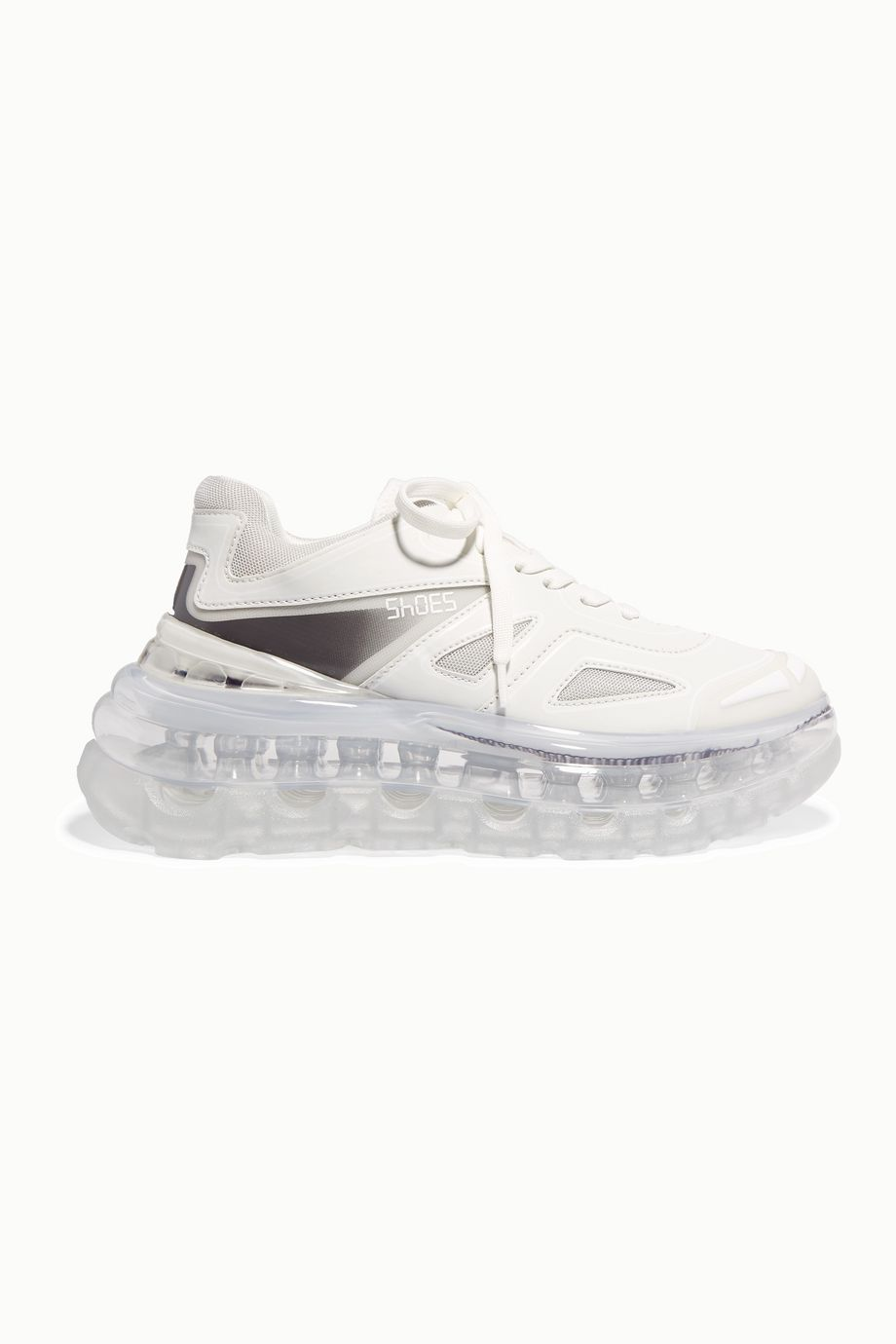 Shoes 53045 Bump Air faux leather, mesh and neoprene sneakers