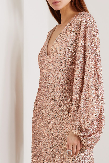 Sequined georgette gown