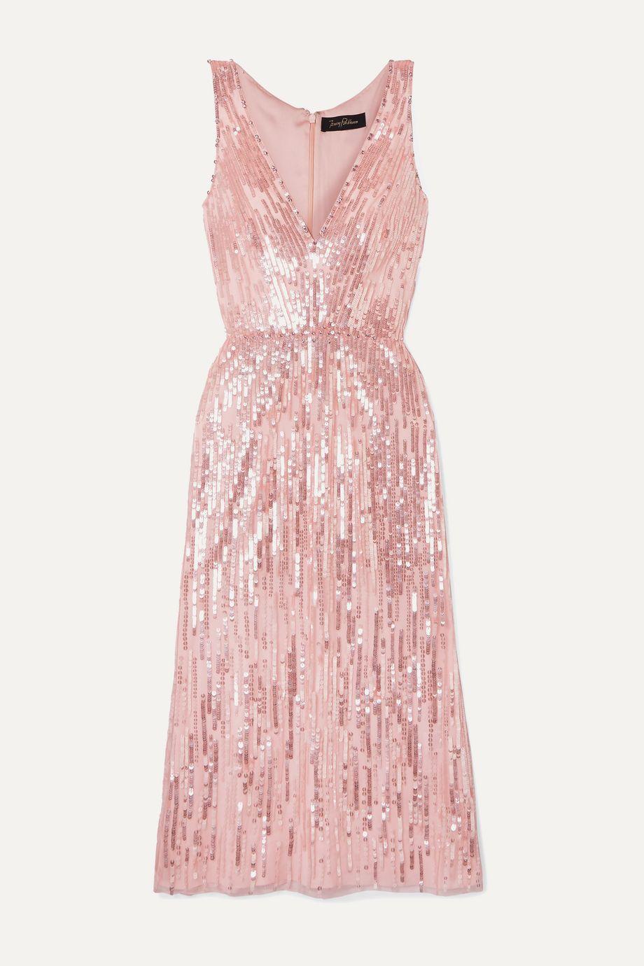 Jenny Packham Evia embellished tulle midi dress