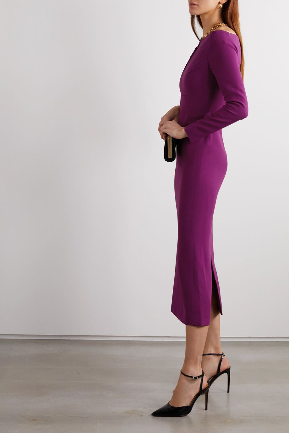 Roland Mouret Romolo stretch-crepe midi dress