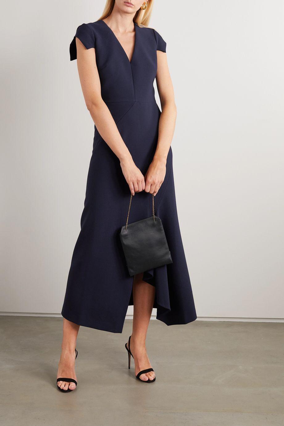 Roland Mouret Kinglake asymmetric crepe midi dress
