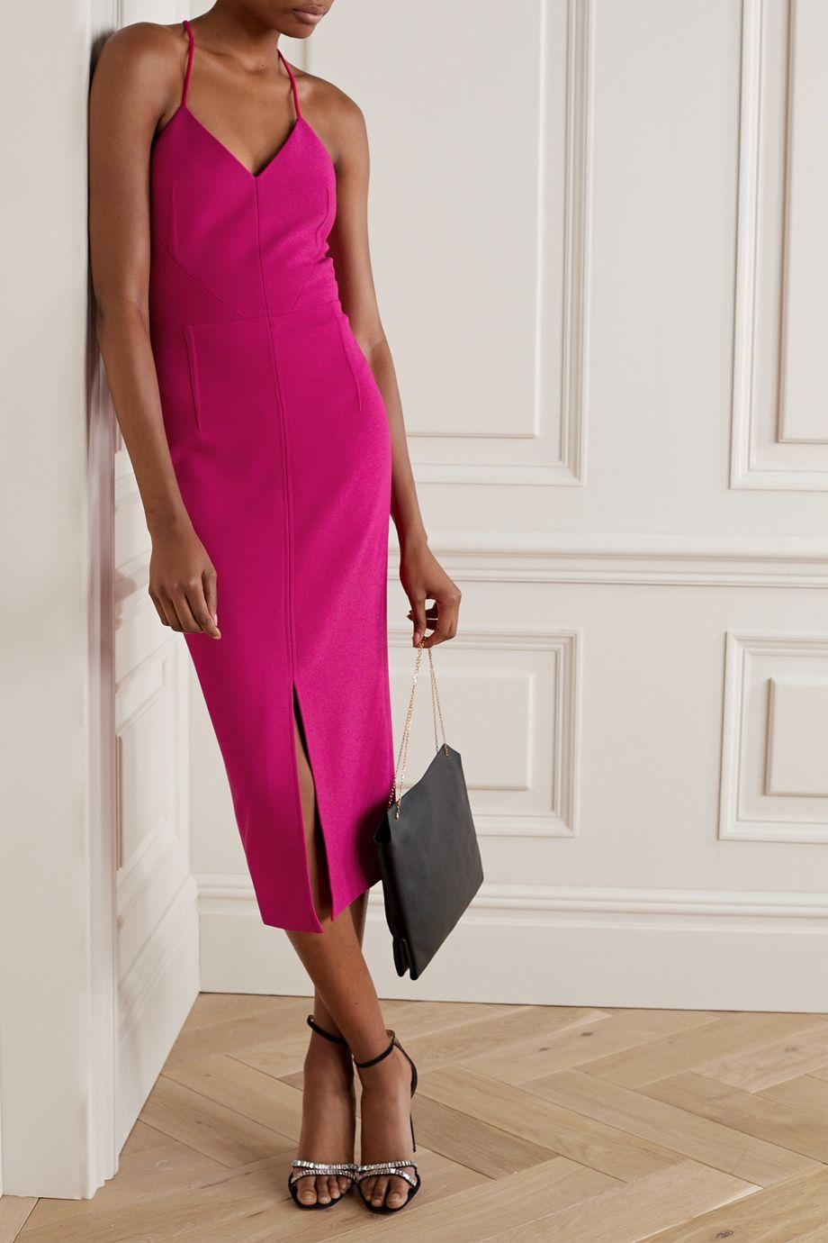Roland Mouret Cannock stretch-crepe midi dress