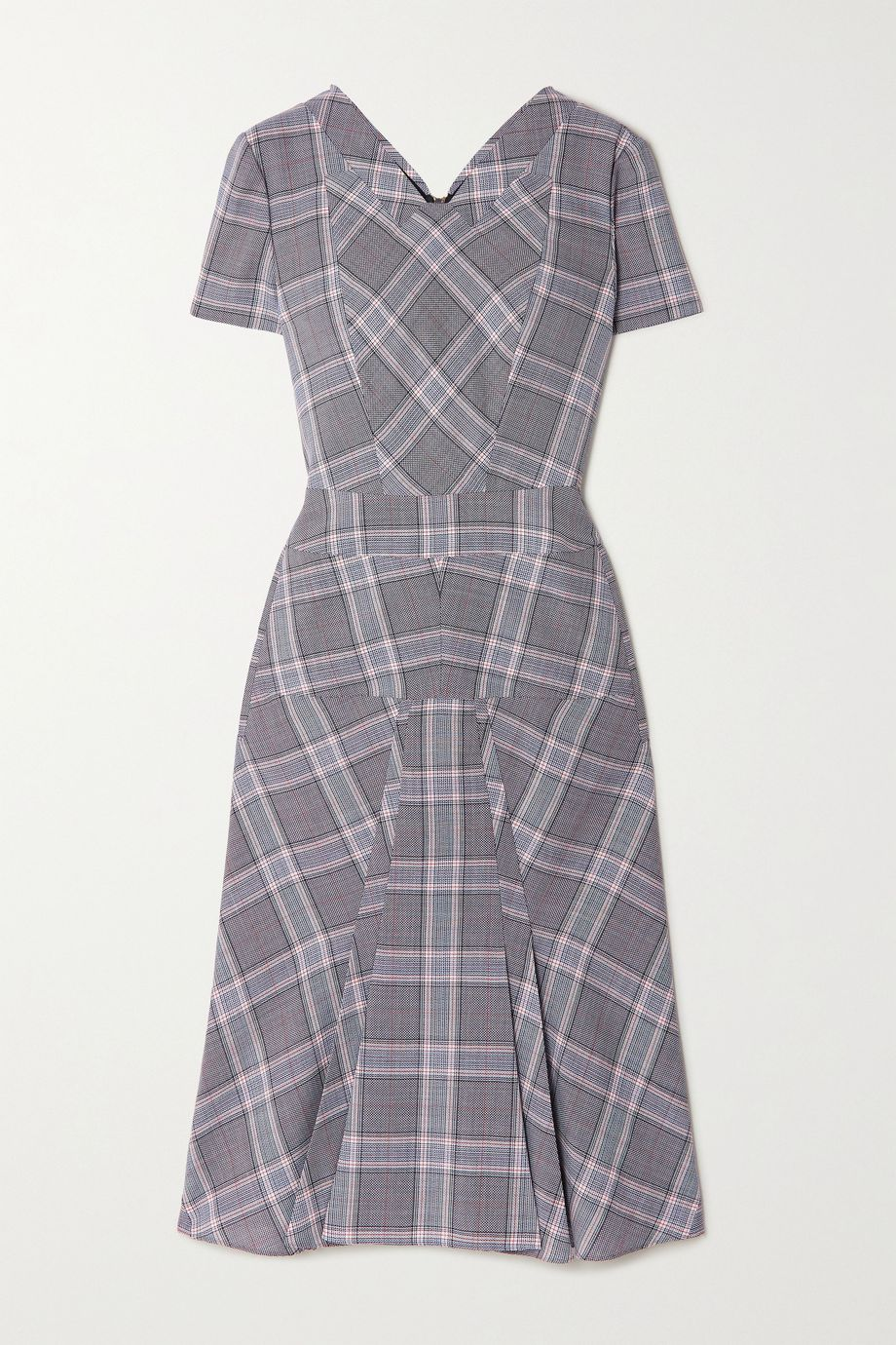 Roland Mouret Bowland checked wool dress