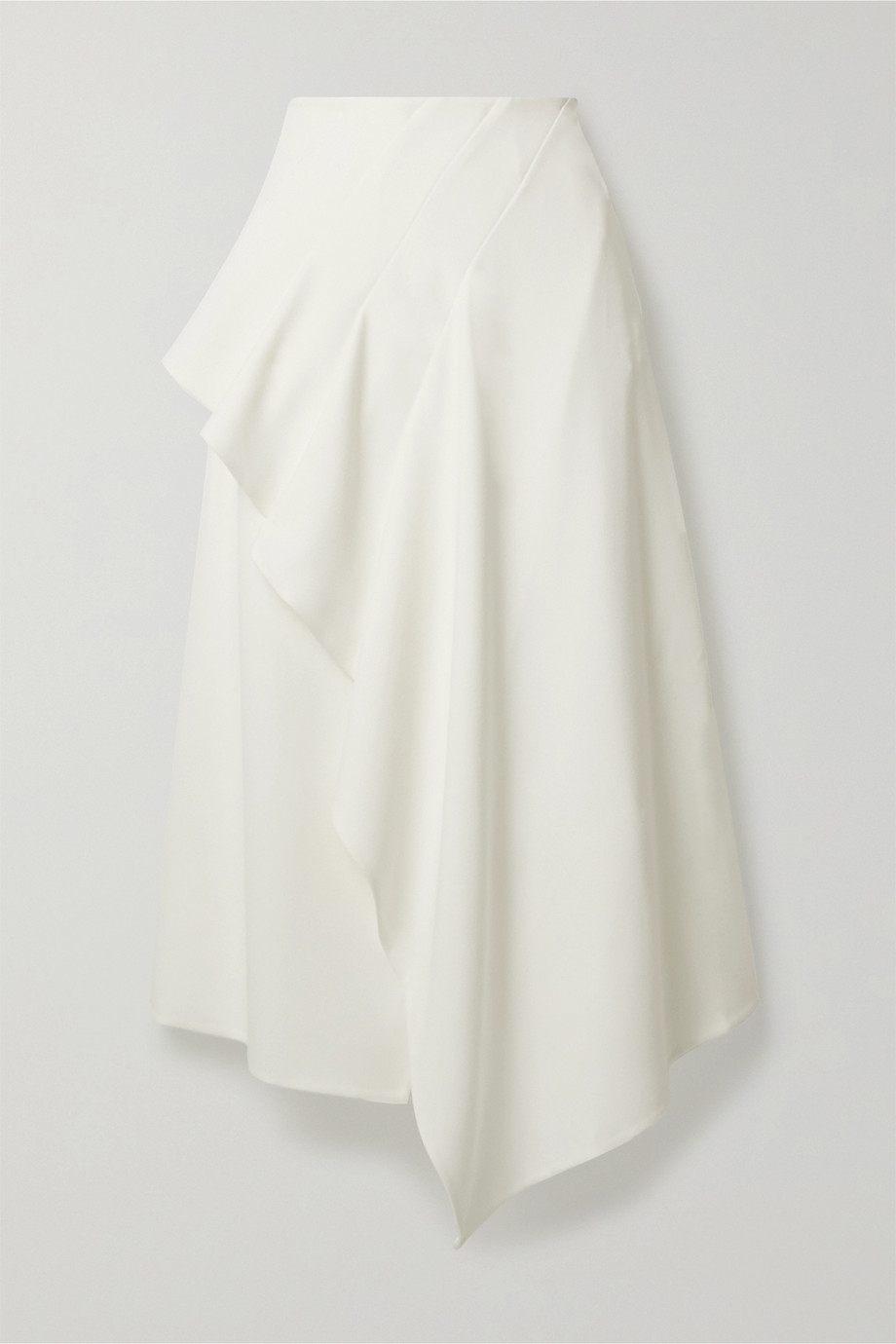 Roland Mouret Kinver pleated stretch-crepe midi skirt