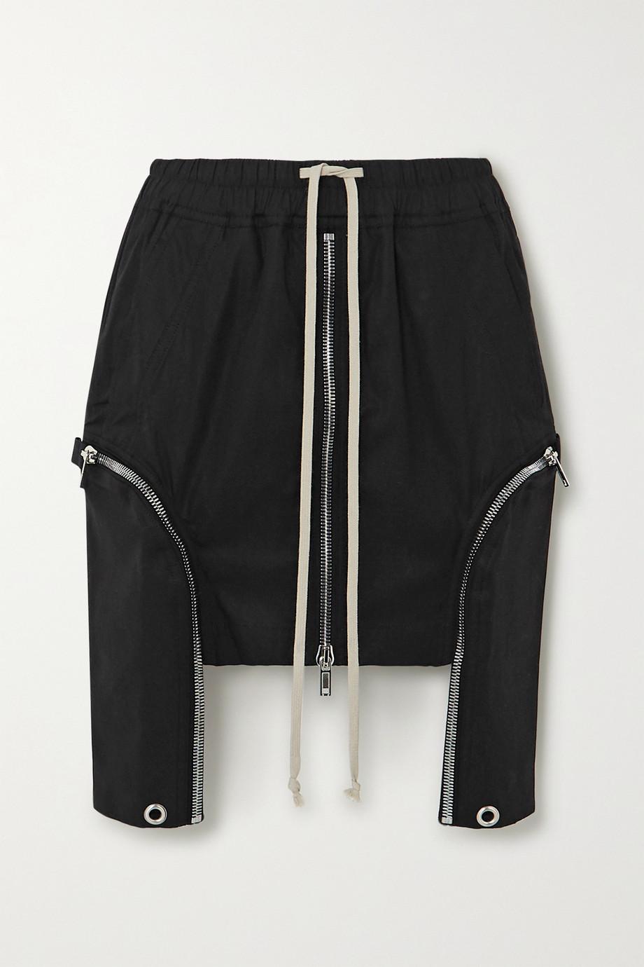 Rick Owens Asymmetric cotton mini skirt