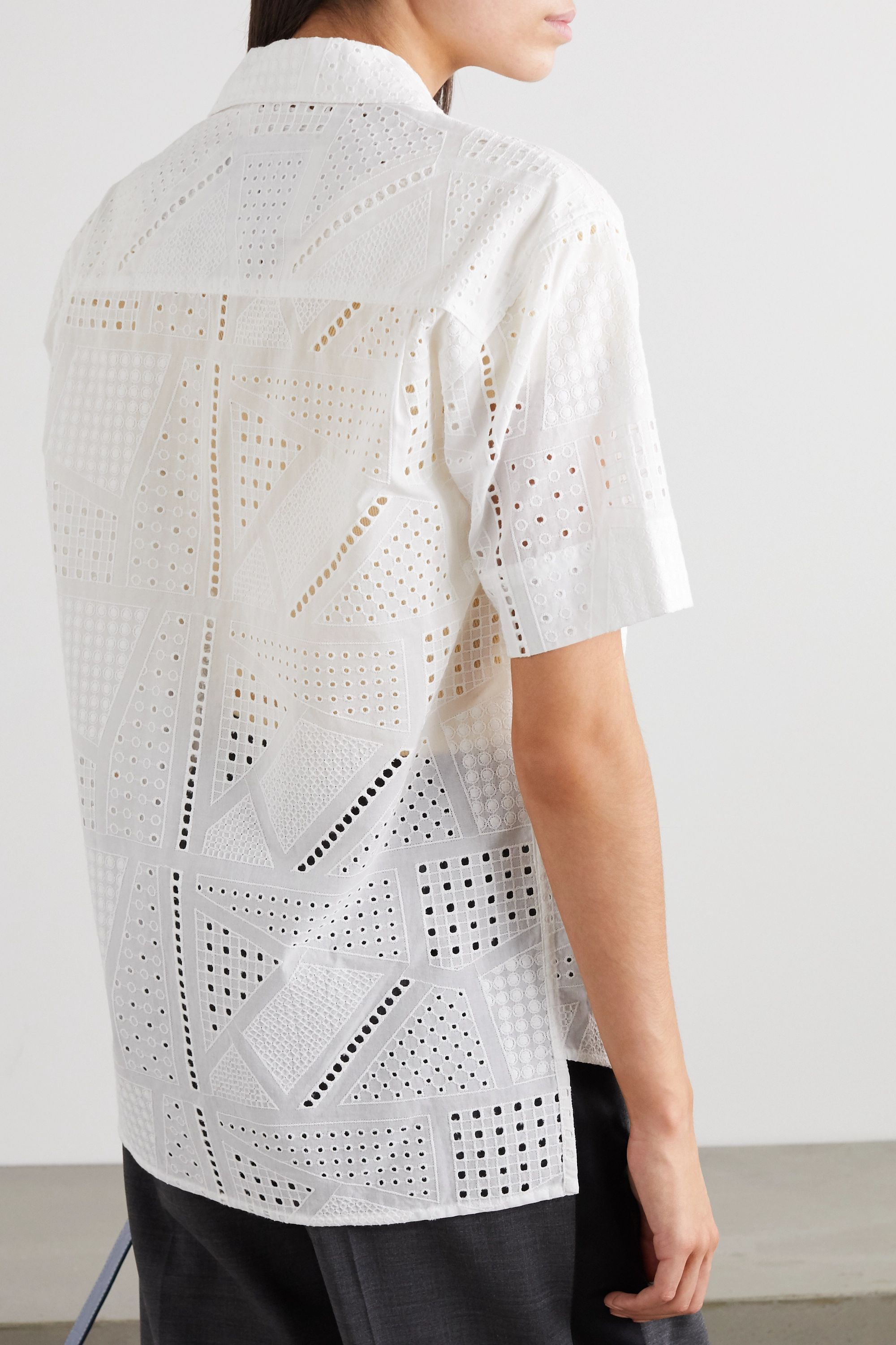 Andersson Bell Andrea broderie anglaise cotton shirt
