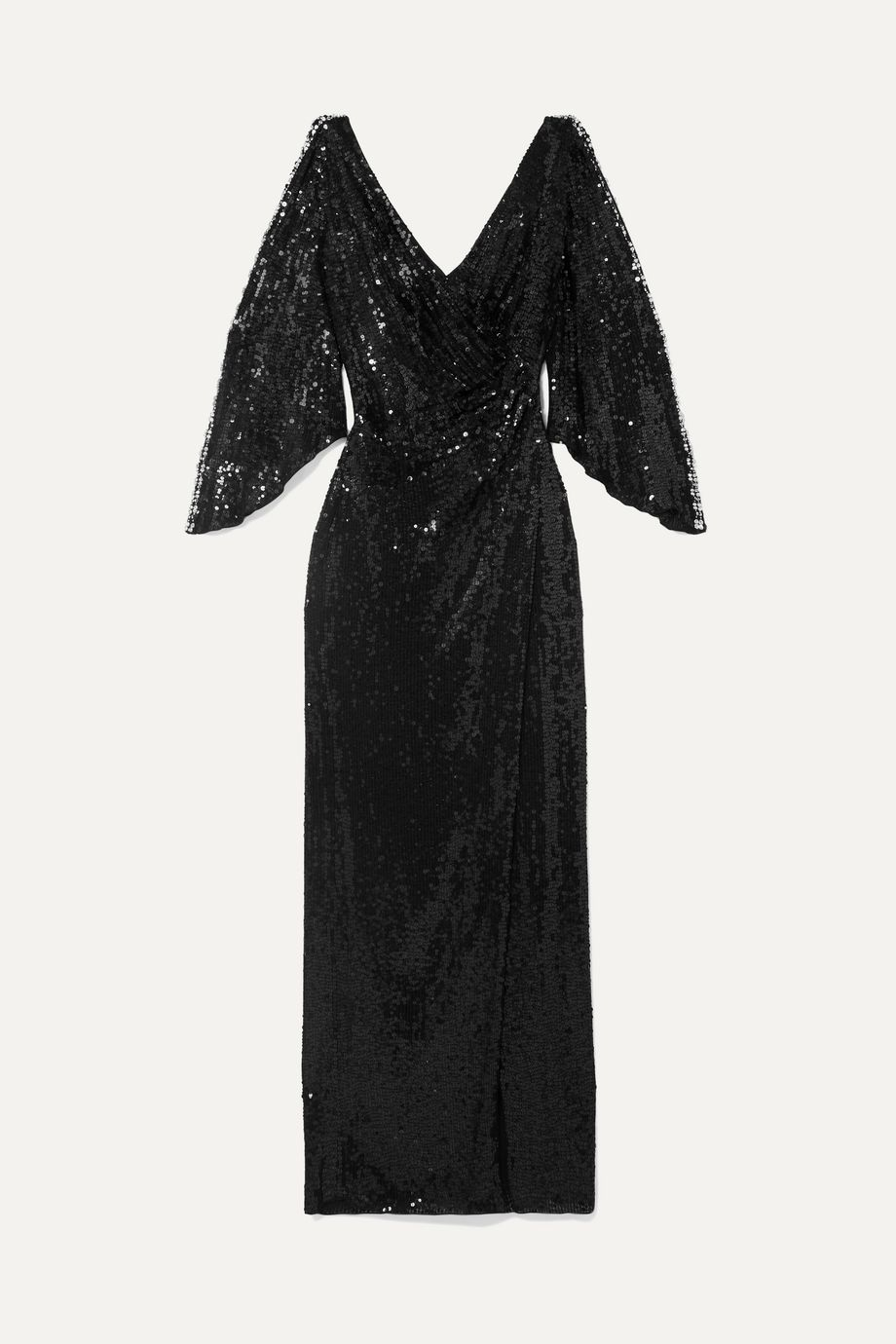 Jenny Packham Wrap-effect cutout sequined tulle gown