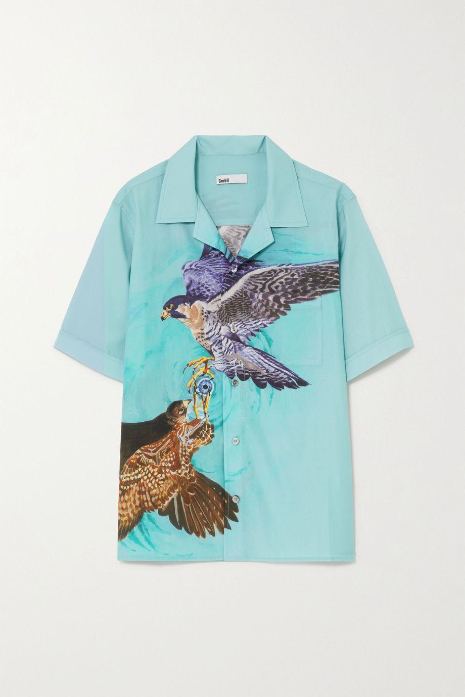GmbH + NET SUSTAIN Luka printed Lyocell and cotton-blend shirt