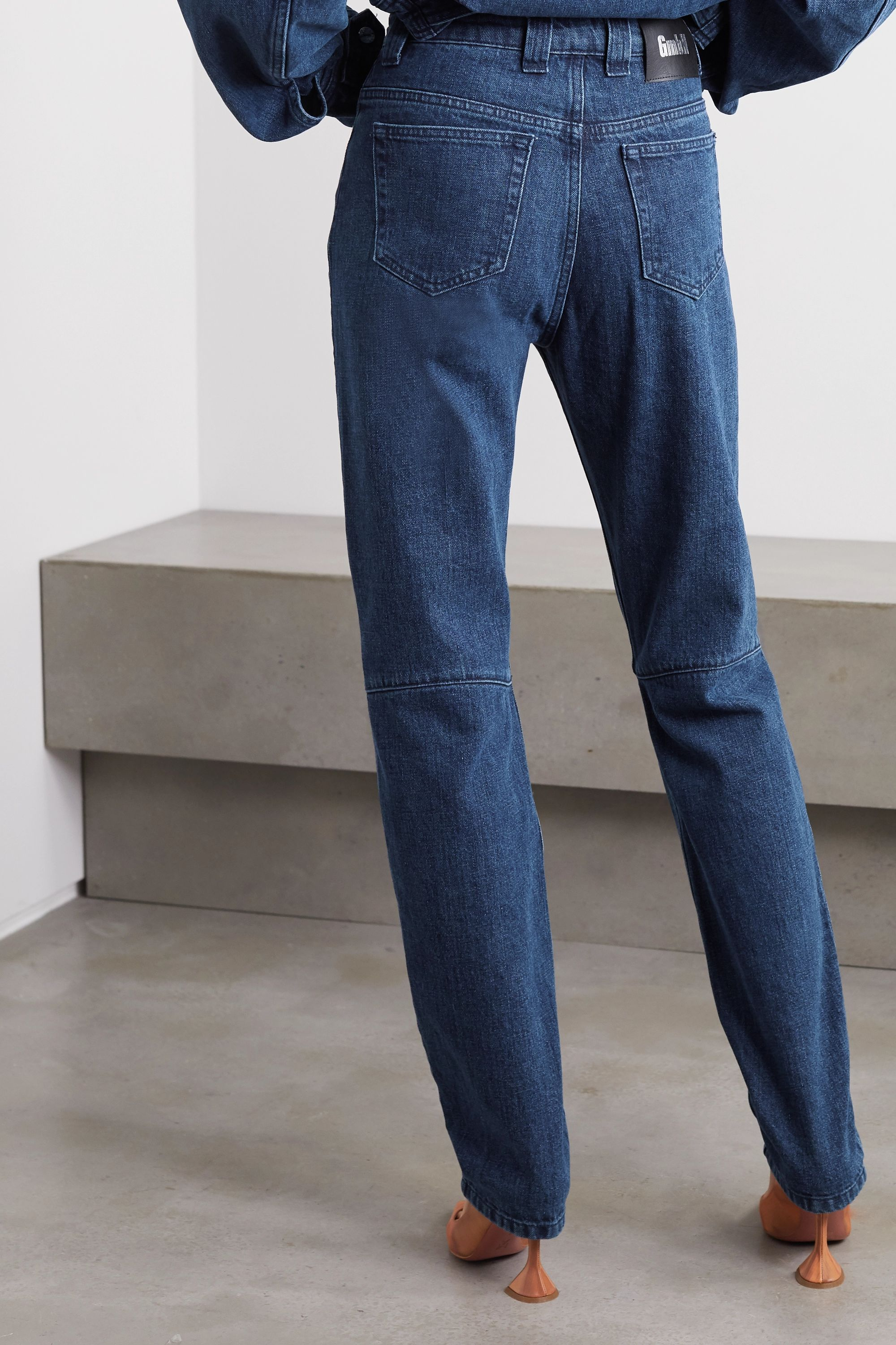 GmbH + NET SUSTAIN Darshini paneled high-rise slim-fit jeans