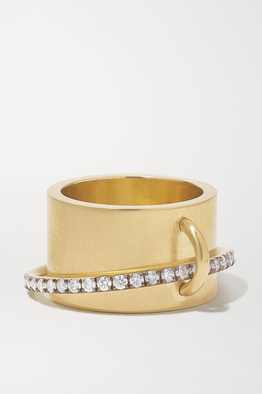 Sylva & Cie 18-karat gold diamond ring