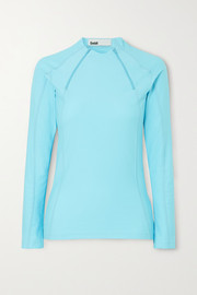 + NET SUSTAIN Ande zip-detailed stretch-jersey top