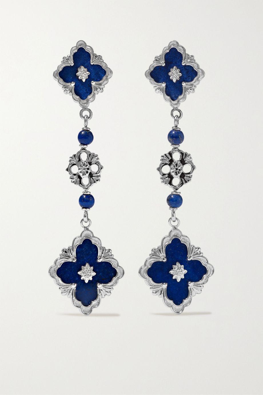 Buccellati Opera 18-karat white gold lapis lazuli earrings