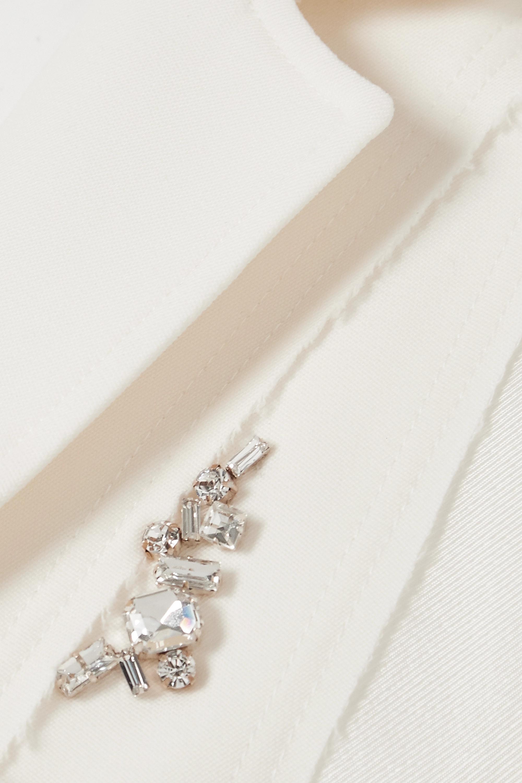 JW Anderson Crystal-embellished paneled satin and wool-crepe blazer