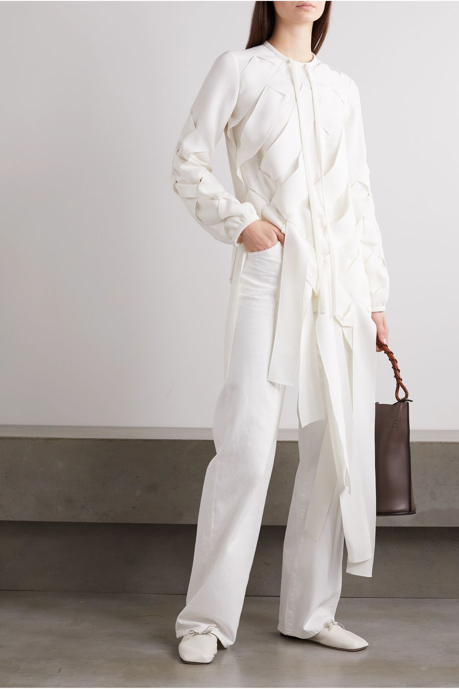 JW Anderson Woven jersey blouse