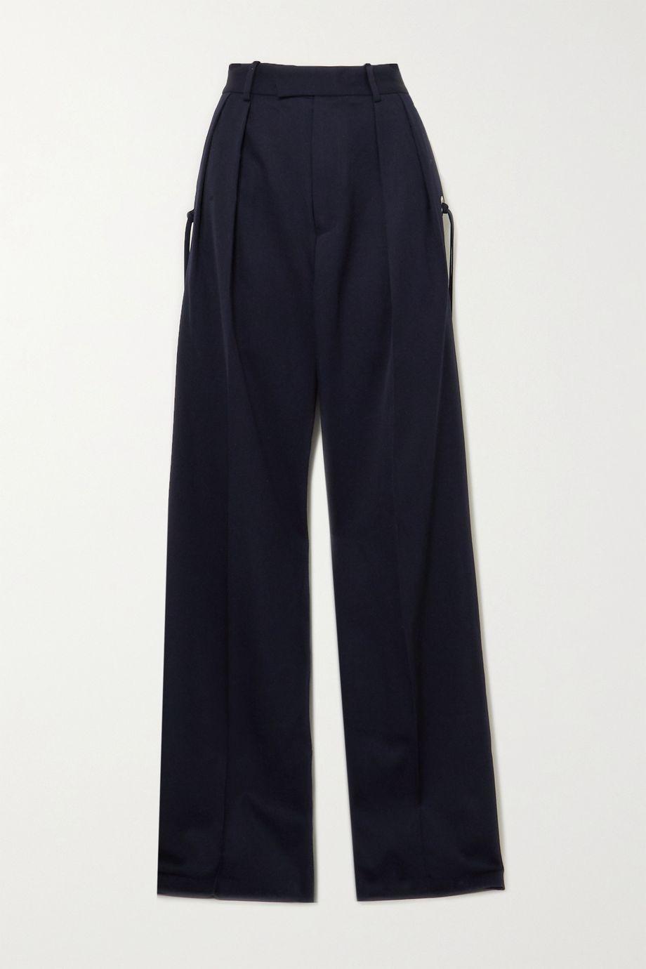 JW Anderson Pleated grain de poudre wool wide-leg pants