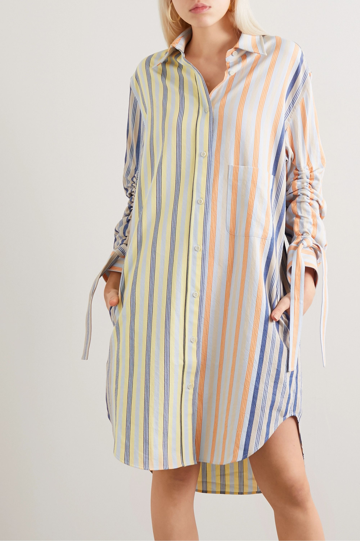 JW Anderson Pinstriped cotton shirt dress