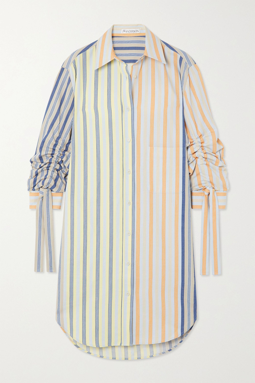 JW Anderson Hemdblusenkleid aus Baumwolle mit Nadelstreifen