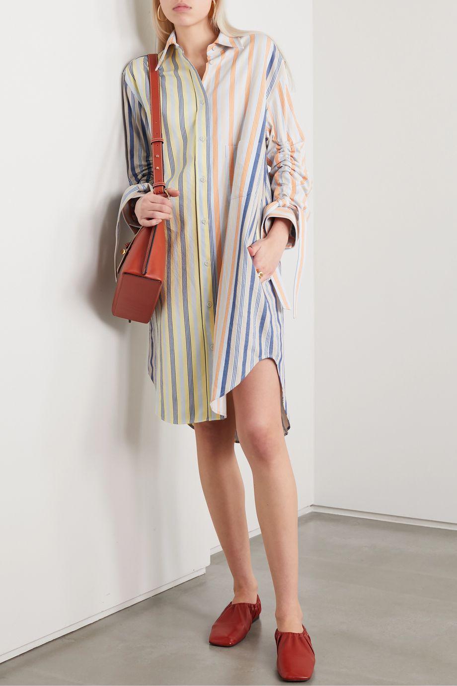 JW Anderson 细条纹纯棉衬衫式连衣裙