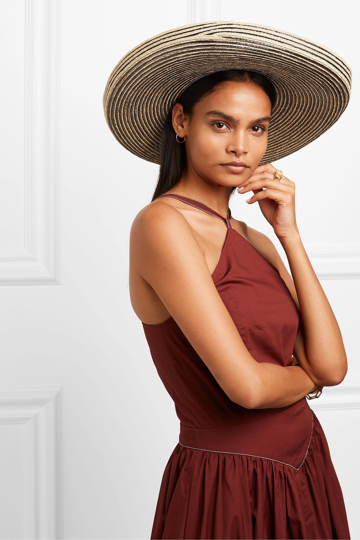 Gigi Burris + NET SUSTAIN Lorena grosgrain-trimmed raffia straw hat