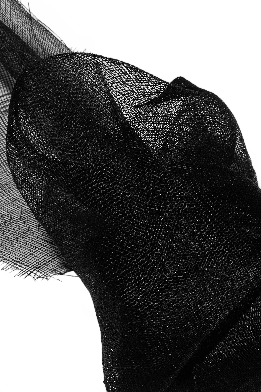 Gigi Burris + NET SUSTAIN Nuage bow-detailed Sinamay straw and grosgrain fascinator