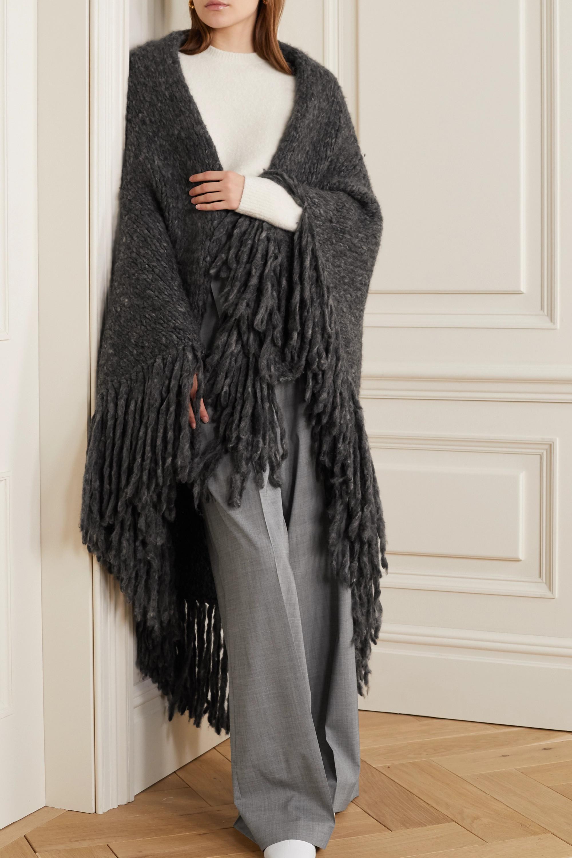 Gabriela Hearst Lauren 流苏羊绒裹身围巾