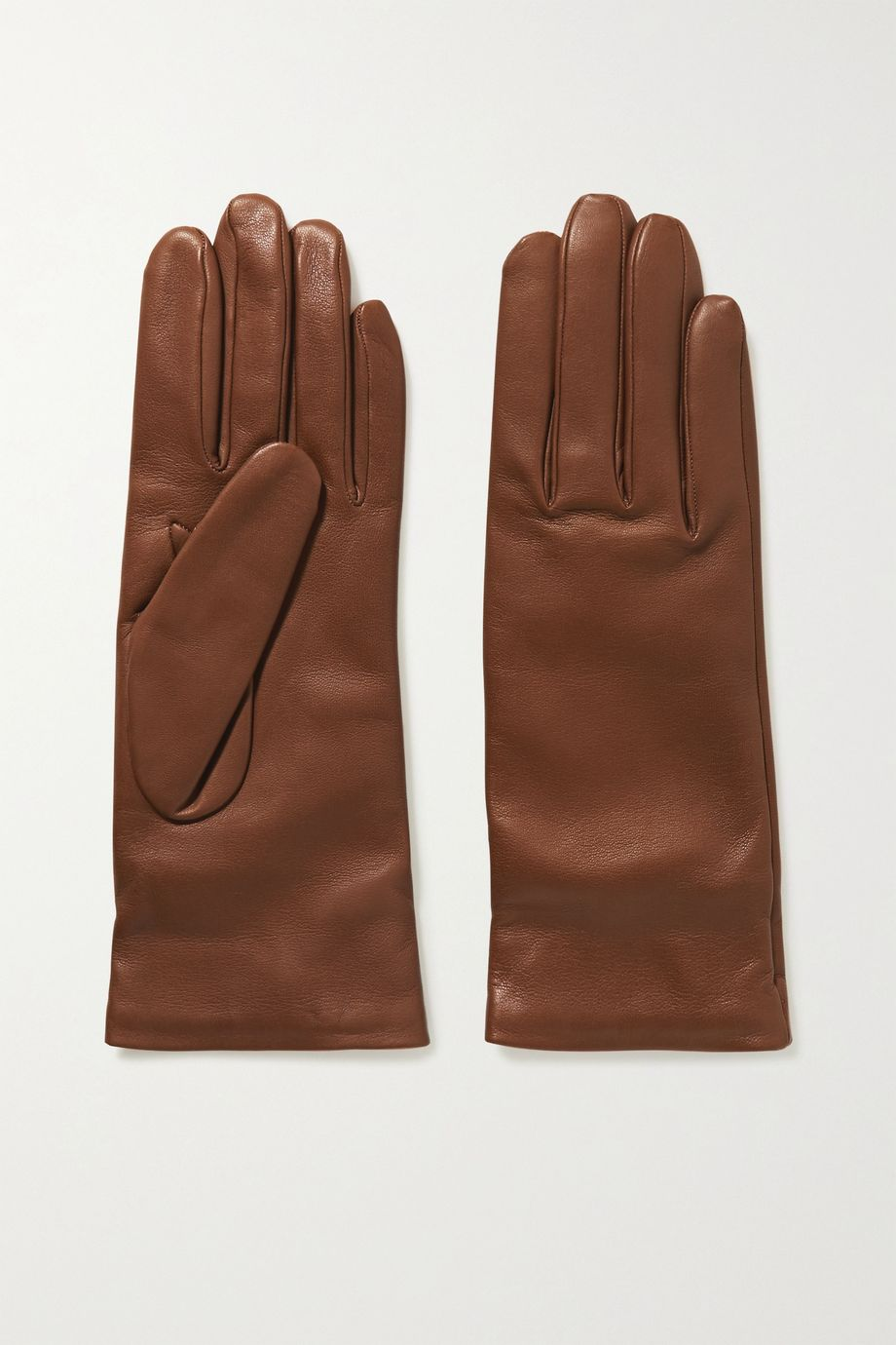 Gabriela Hearst Embroidered leather gloves