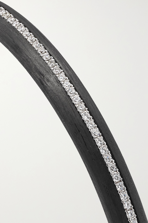 Boghossian Carbon fiber, 18-karat white gold and diamond bangle