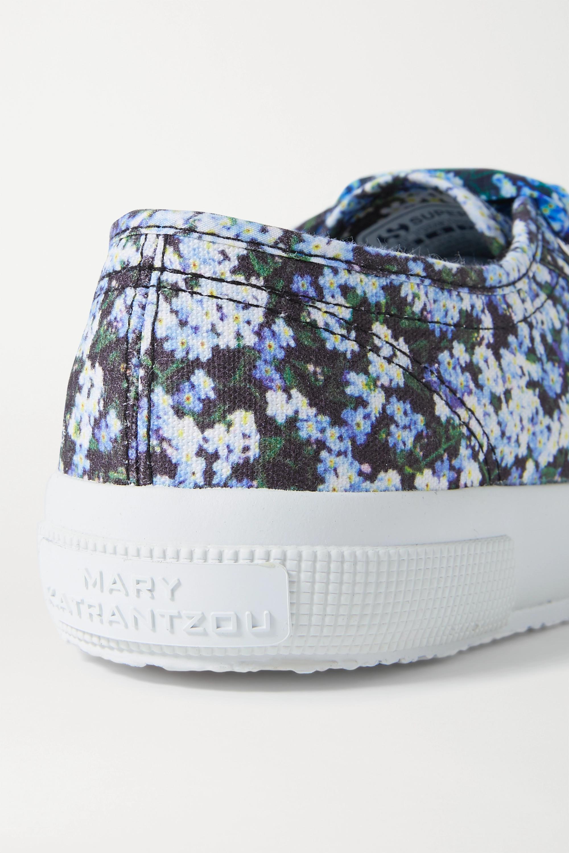 Mary Katrantzou MARY-MARE Baskets en toile à imprimé fleuri x Superga