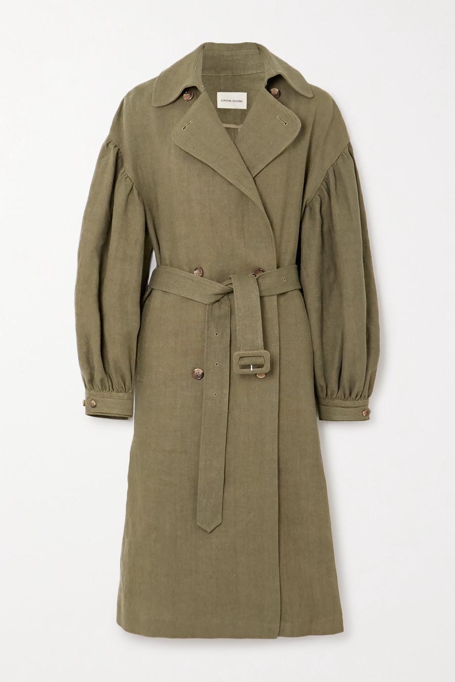 LOULOU STUDIO Pukapuka oversized linen trench coat