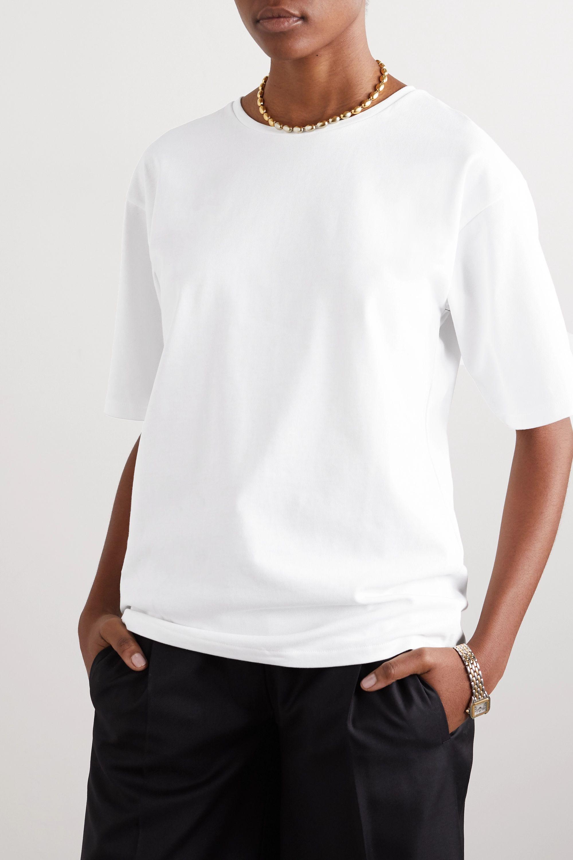 LOULOU STUDIO Lipari 纯棉平纹布 T 恤