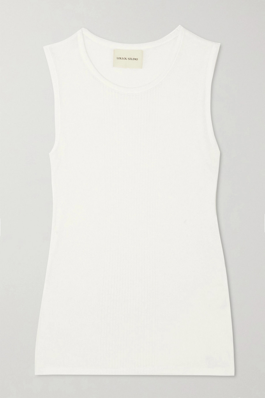 LOULOU STUDIO Fatu ribbed cotton tank