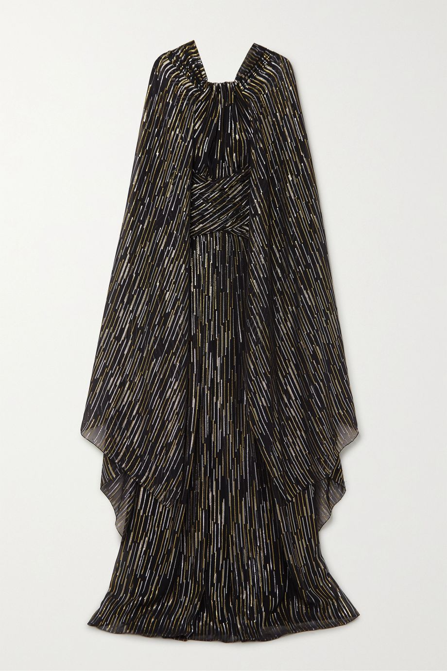 Peter Pilotto Cape-effect silk and Lurex-blend jacquard gown