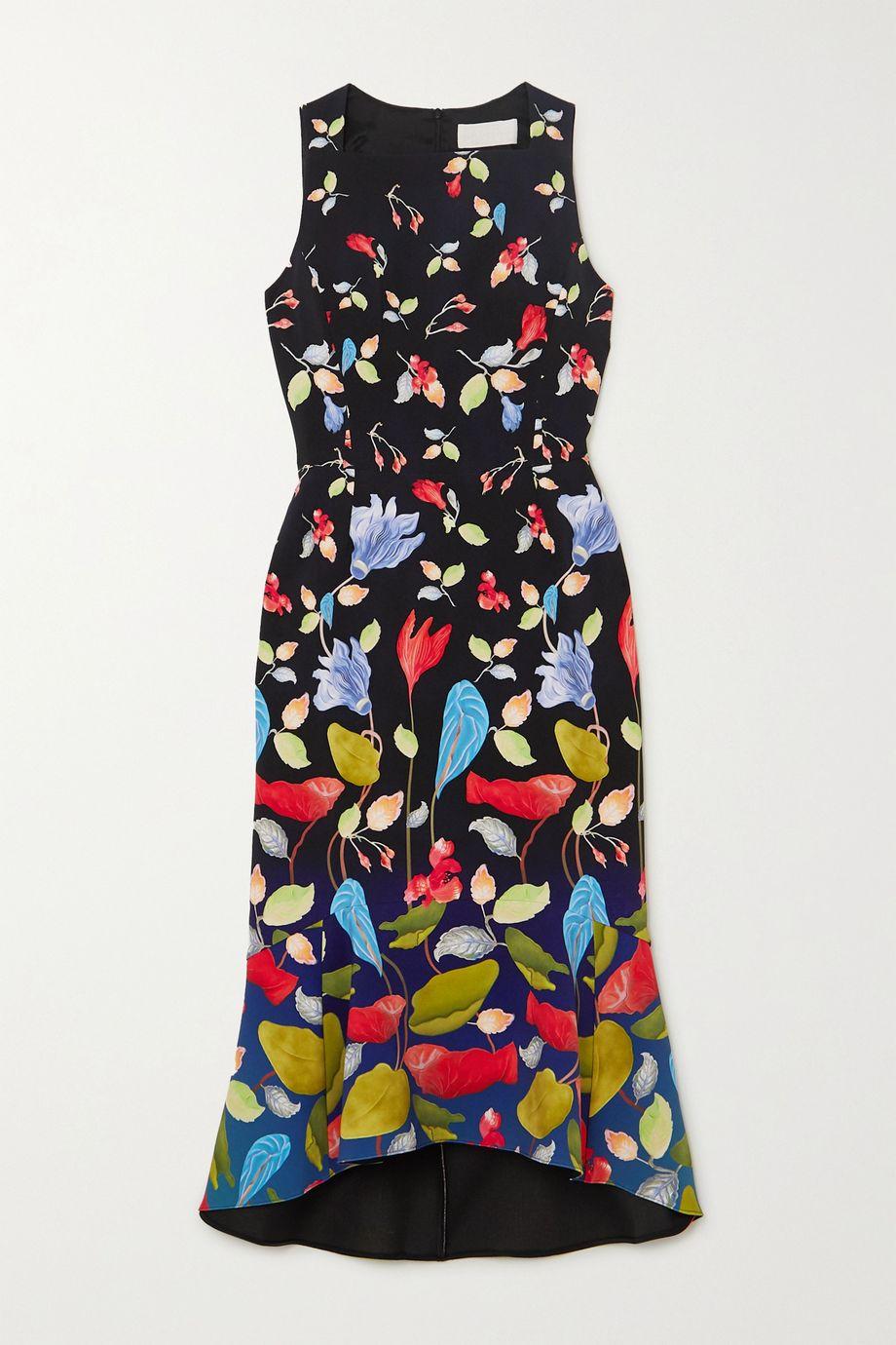 Peter Pilotto Kia floral-print stretch-cady midi dress