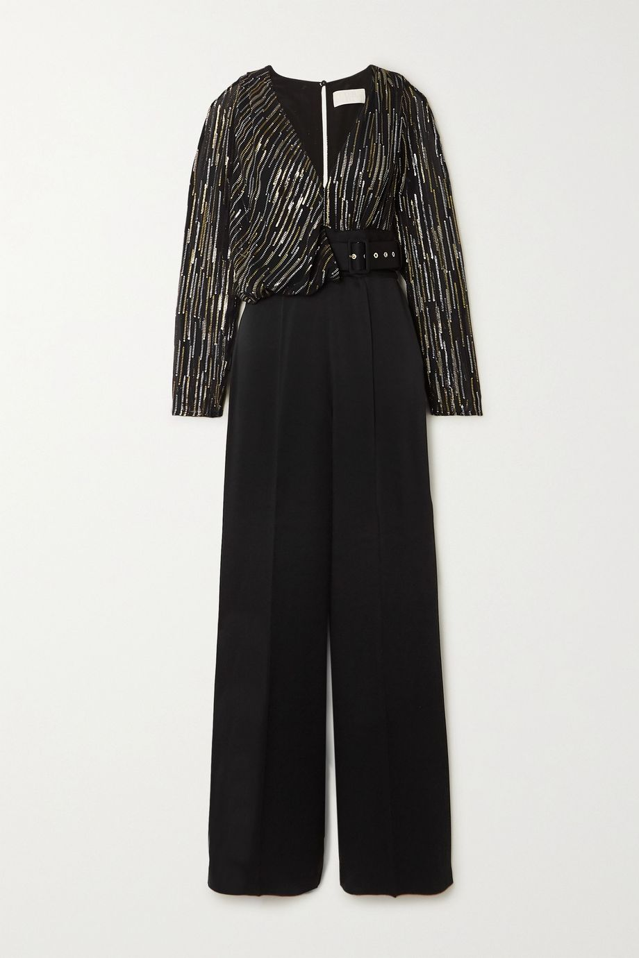 Peter Pilotto Silk and Lurex-blend fil coupé chiffon and cady jumpsuit