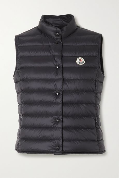 Black Liane quilted shell down vest   Moncler RGRNuY