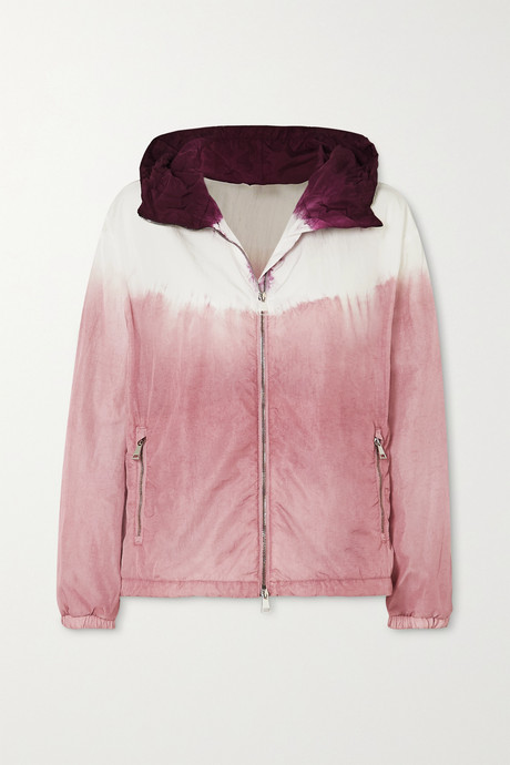 Pink Tie-dyed hooded nylon jacket   Moncler 4y0LVk