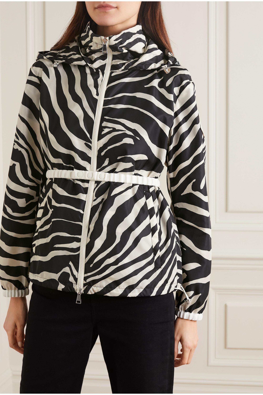 Zebra Print Pomme Hooded Zebra-print Shell Jacket | Moncler