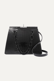 Gu_de Croc-effect leather shoulder bag