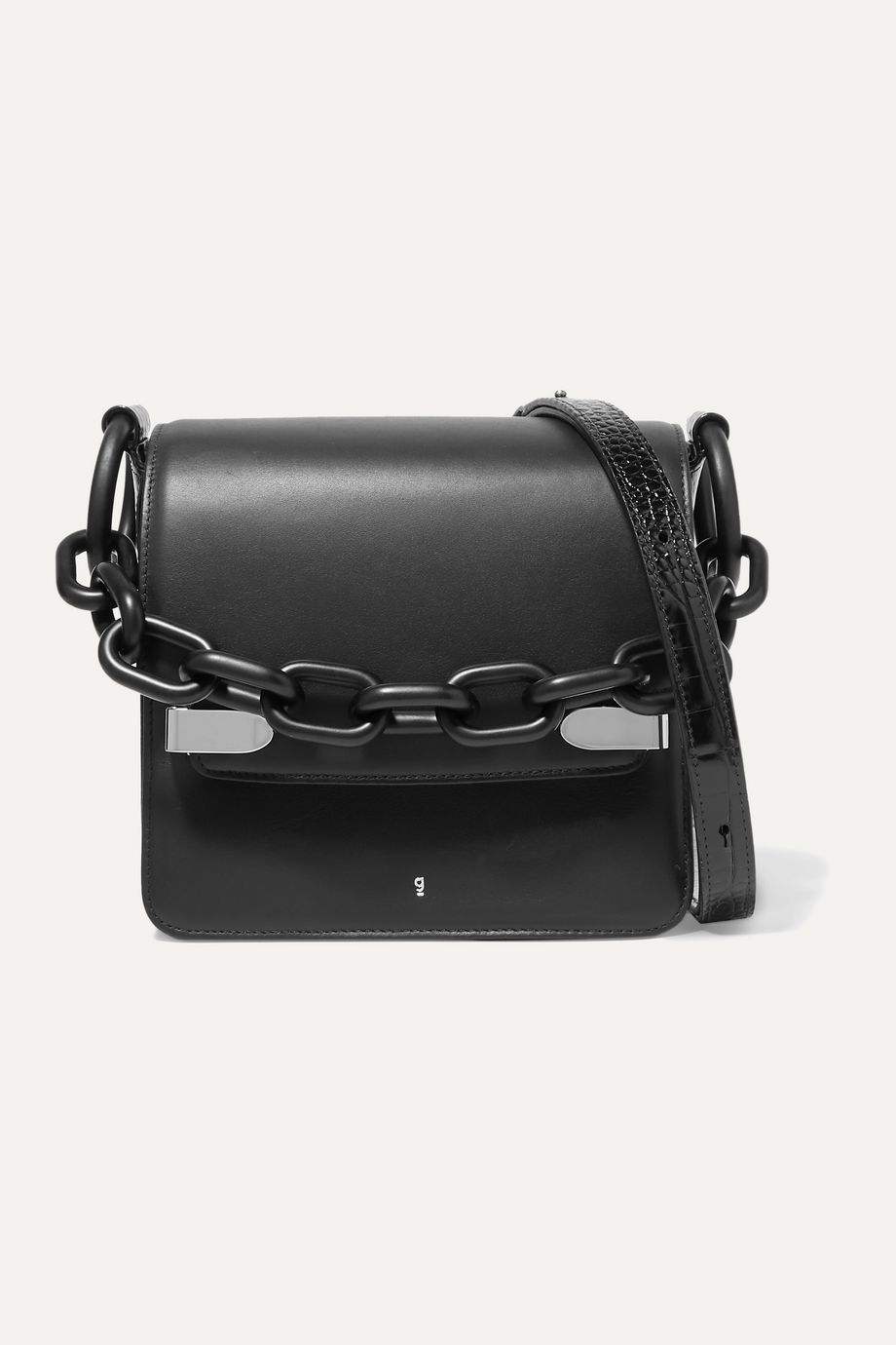 Gu_de Smooth and croc-effect leather shoulder bag
