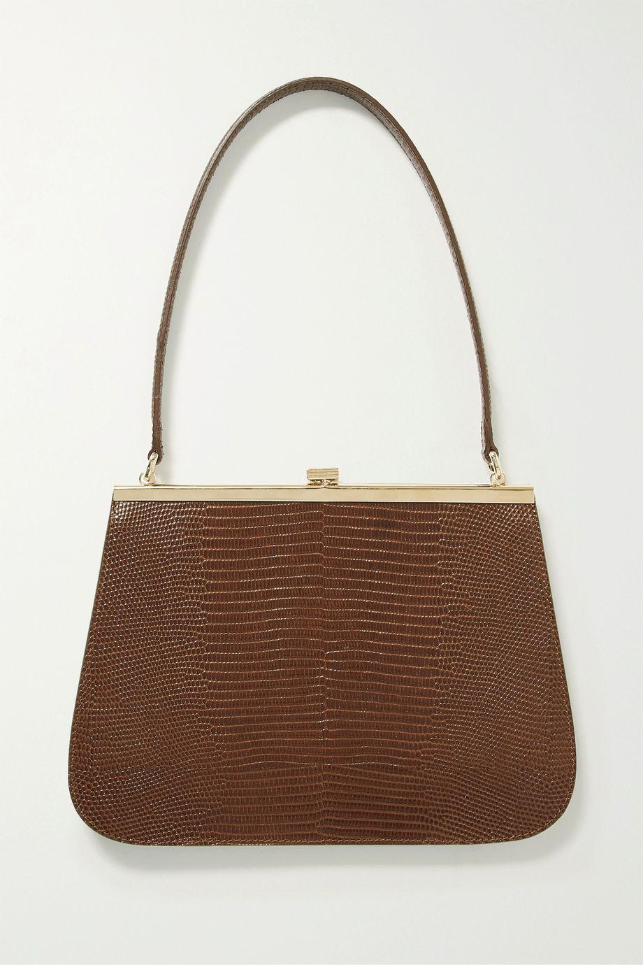 TL-180 Anouk lizard-effect leather shoulder bag