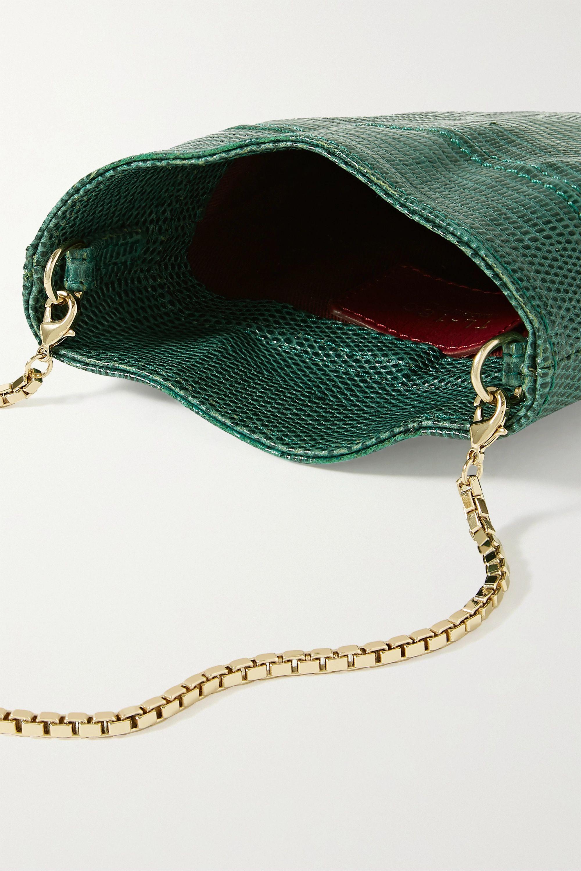 TL-180 Le Mini Fazzoletto lizard-effect leather shoulder bag